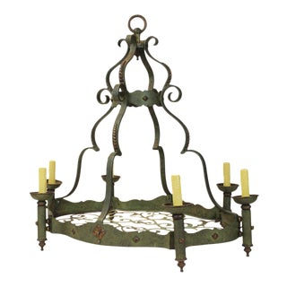 Hand-Forged Iron Chandelier