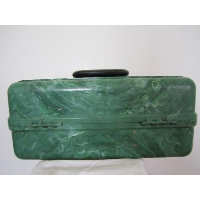 Green Marbleized Malachite Style Storage Box - Image 3 of 8