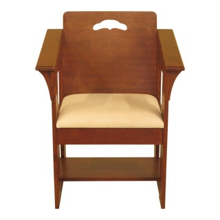 Stickley Limbert Style Mission Oak Cube Chair