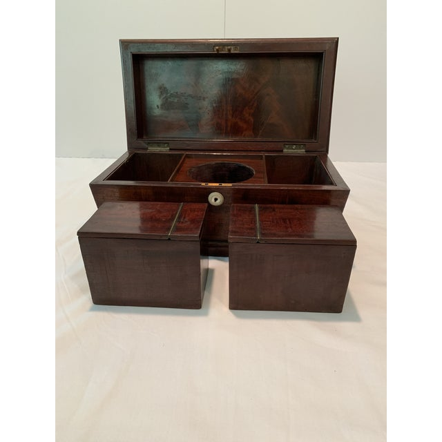 Wood Mid 19th Century Antique English Tea Caddy For Sale - Image 7 of 10