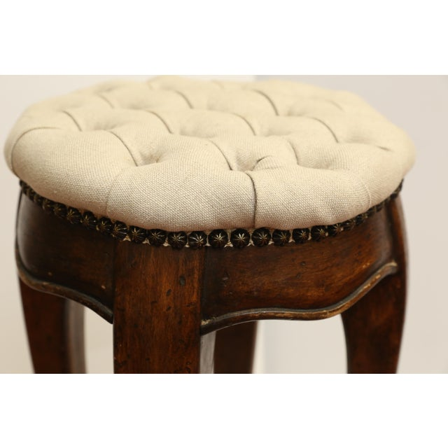 Country French Pedestal Stool - Image 4 of 4
