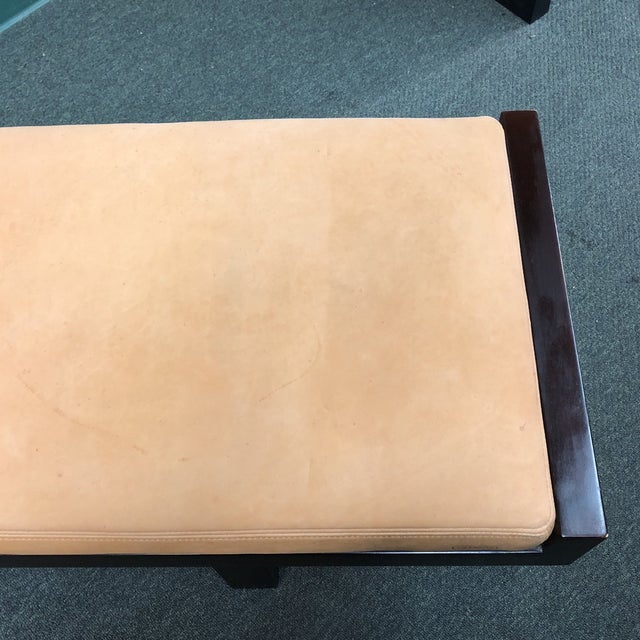 Animal Skin Custom Modern Coach Leather Top Bench For Sale - Image 7 of 12