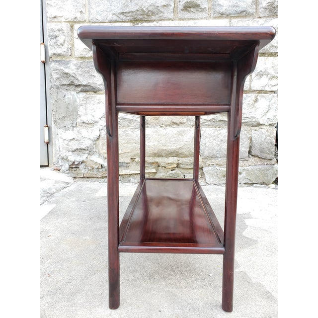 Vintage Asian Rosewood Console Table For Sale - Image 4 of 13
