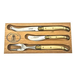 French LaGuiole Cheese Knife Set - Set of 3