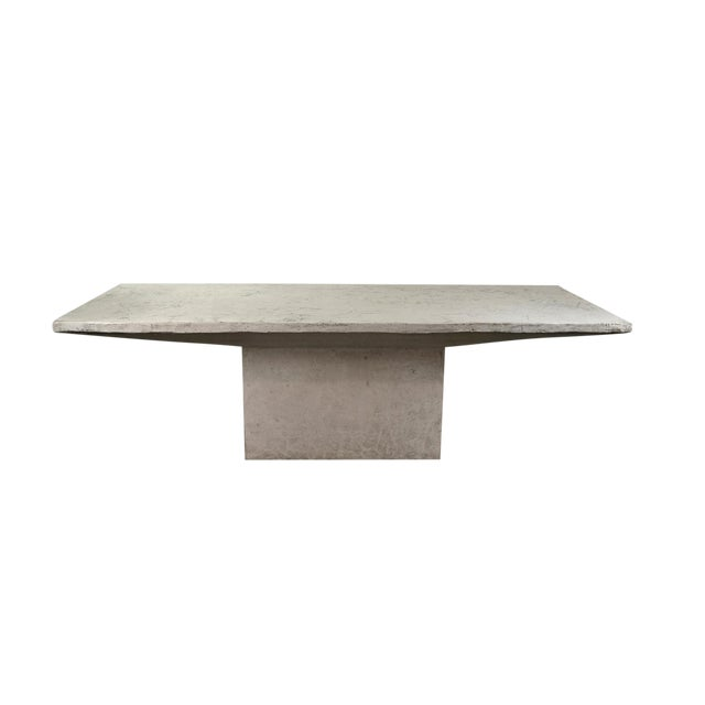 Vintage Faux Raw Stone Dining Table Conference Table Chairish - Stone conference table
