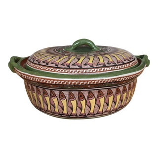 Mexican Pottery Casserole Dish For Sale