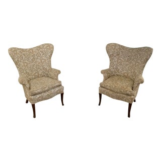 Vintage Edward Wormley Style Butterfly Wingback Chairs - a Pair For Sale