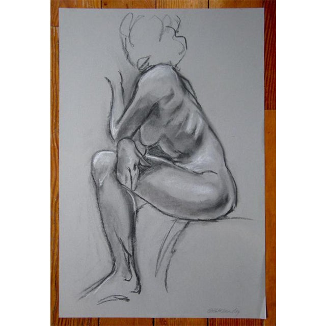 Contemporary Kathleen Ney Original Charcoal Drawing For Sale - Image 3 of 4