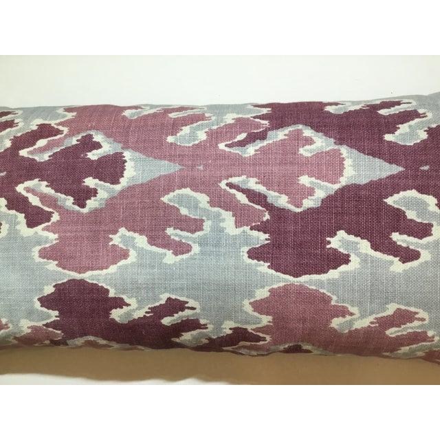 Purple & Gray Linen Ikat Pillow - Image 6 of 7