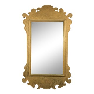 Antique Solid Wood Painted Wall Mirror For Sale
