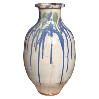 19th Century Meiji Glazed Ceramic Jar From the Japanese Shigaraki Kilns For Sale
