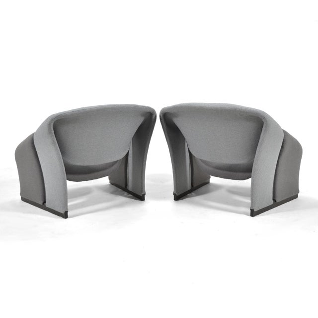 Gray Pair of Pierre Paulin Model F580 Lounge Chairs by Artifort For Sale - Image 8 of 12