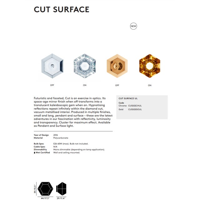 Tom Dixon Cut Surface Gold For Sale - Image 9 of 11