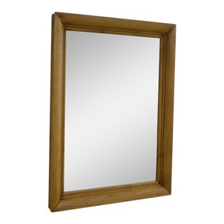 Pine Framed Wall Mirror For Sale