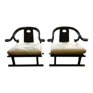 Baker Furniture Far East Collection Arm Chairs #2510 by Michael Taylor - a Pair For Sale