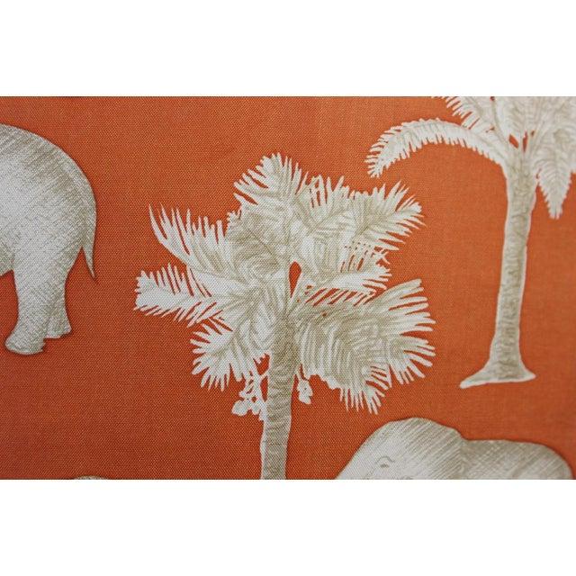 Jim Thompson Orange Thai Elephant Pillow For Sale - Image 5 of 6