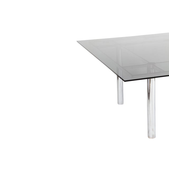 Metal Tobia Scarpa Large Square Chrome Dining Table for Knoll Model André For Sale - Image 7 of 8