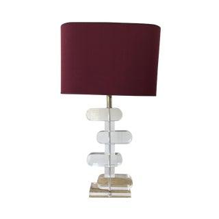 Modern Lucite Table Lamp