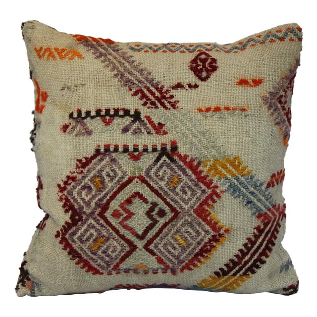 Turkish Handmade Kilim Pillow Cover - Image 1 of 11