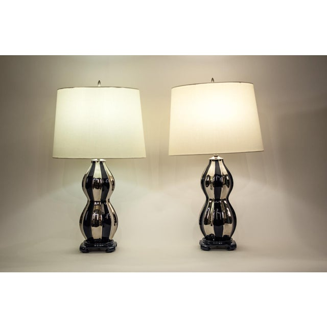 Mid-Century Modern Porcelain Table Lamps - a Pair For Sale - Image 9 of 12