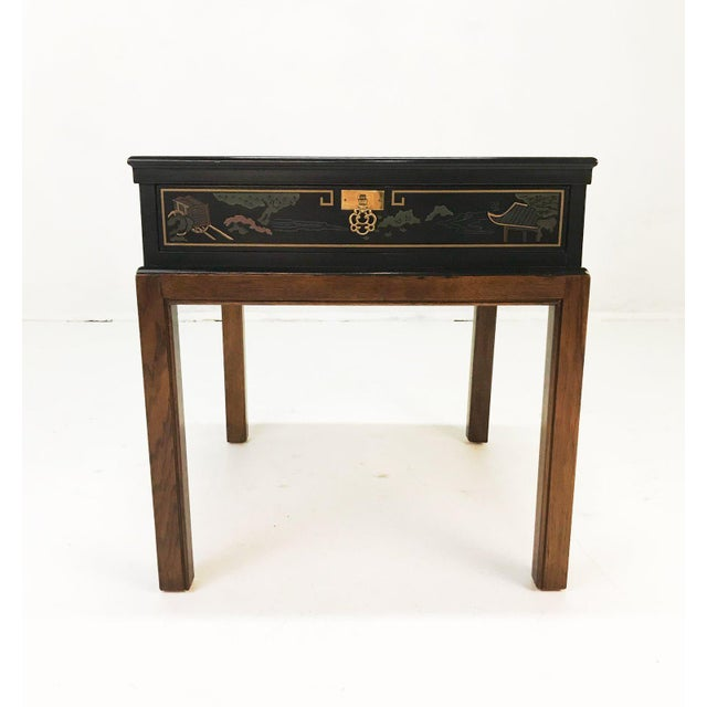 Drexel Heritage Chinoiserie Chippendale Side Table For Sale In Tampa - Image 6 of 12