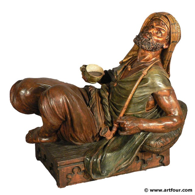 Gorgeous Wooden Carved Arab Vienna Ca. 1900 For Sale - Image 9 of 9