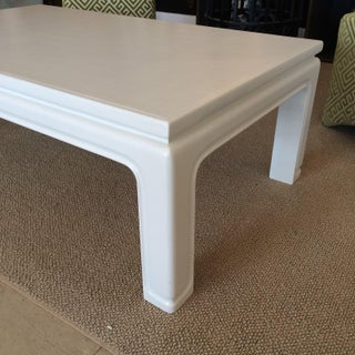 Karl Springer Style Linen Wrapped Coffee Table Preview