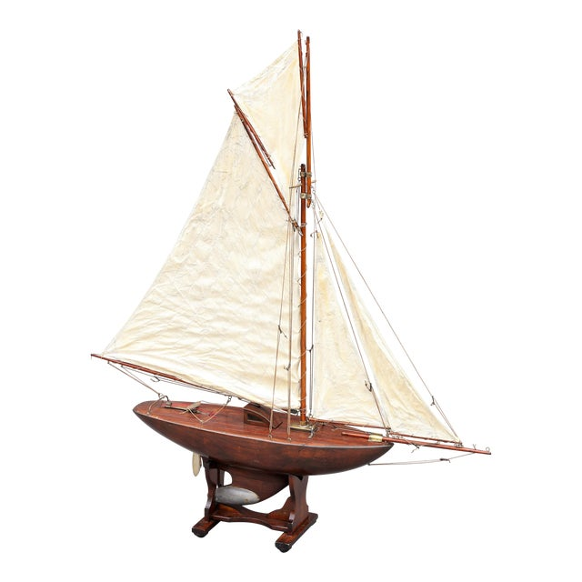 Large Antique English Pond Yacht - Image 1 of 10