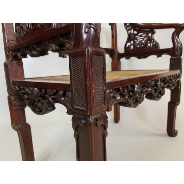 C. 1900 Pair of Chinese Carved Benches For Sale In Chicago - Image 6 of 10