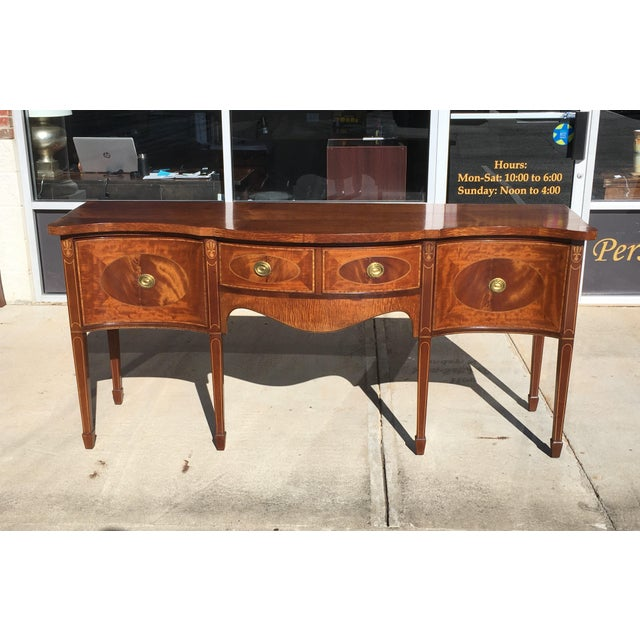 Early 20th Century Mahogany Inlaid Sideboard For Sale - Image 11 of 11