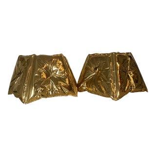 2Modern Dent Metallic Plug-In Pendants - a Pair For Sale
