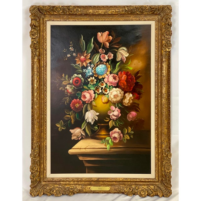 Chelsea House Inc Vintage Chelsea House Floral Oil Painting For Sale - Image 4 of 5