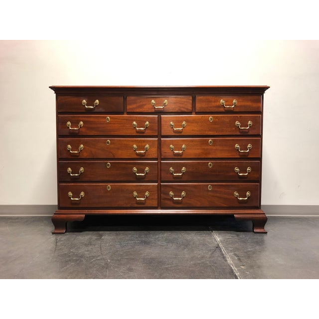 Councill Craftsmen Solid Mahogany Chippendale Dresser For Sale - Image 13 of 13