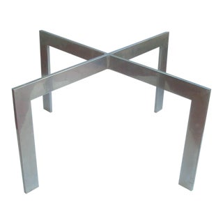 Cast Aluminum Mies Van Der Rohe Style X Table Base Barcelona For Sale