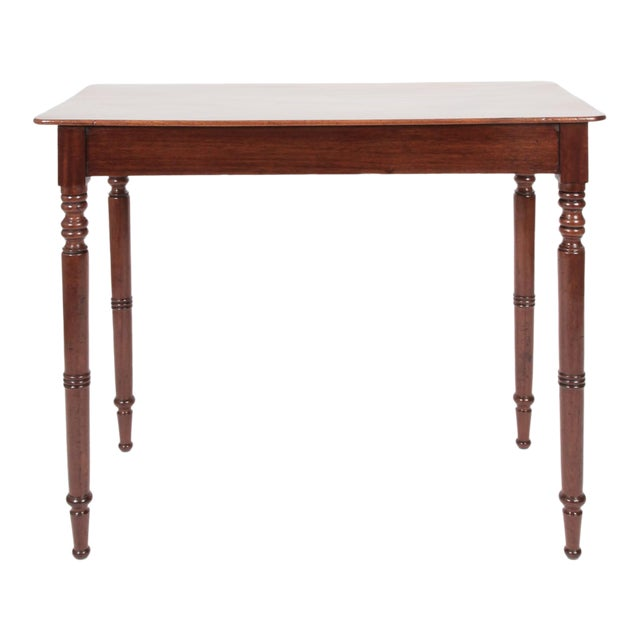 Early 19th Century Antique English Regency Mahogany Side Table For Sale