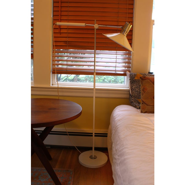 Mid Century Italian Swing Arm Floor Lamp For Sale - Image 5 of 11