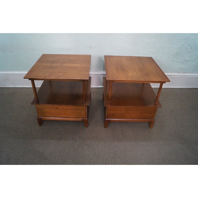 Heritage Henredon Mid Century End Tables - Image 3 of 10