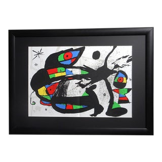 Vintage Mid Century Ltd. Ed. Lithograph-Joan Miro-Derriere Le Miroir-1978 For Sale