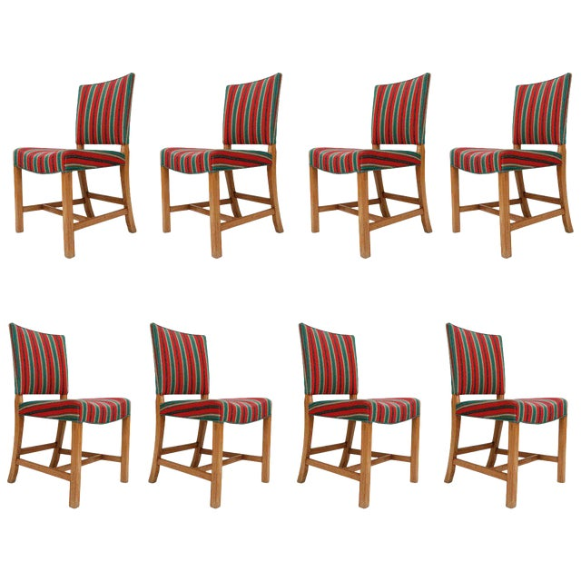Set of Eight Kaare Klint Dining Chairs For Sale