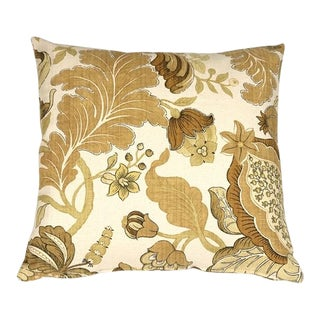 Pillow Decor Harvest Floral Yellow 20x20 Pillow For Sale