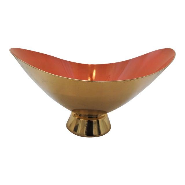 Mid-Century Modern Gorham Donald Colflesh Brass Enamel Bowl For Sale