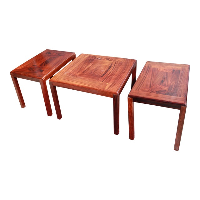 1960s Danish Rosewood Coffee & End Tables - Set of 3 - Image 1 of 10