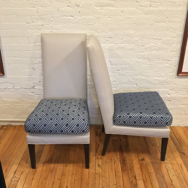 Contemporary Custom Kravet De Paul Side Chairs - a Pair For Sale - Image 3 of 8