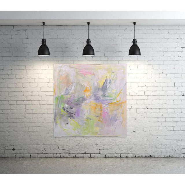 """""""Sydney Sunrise"""" by Trixie Pitts Large Abstract Expressionist Oil Painting For Sale In Nashville - Image 6 of 13"""