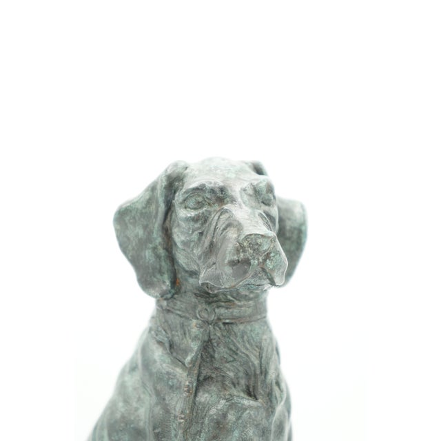 Metal Vintage Maitland-Smith Bronze Sporting Dog For Sale - Image 7 of 12