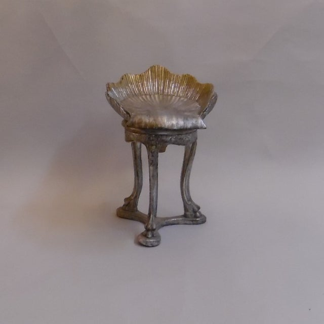 19th Century Italian Silver and Gold Gilt Cherrywood Grotto Seat For Sale - Image 13 of 13