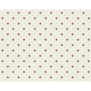Hinson for the House of Scalamandre Trixie Wallpaper in Red & Black on White