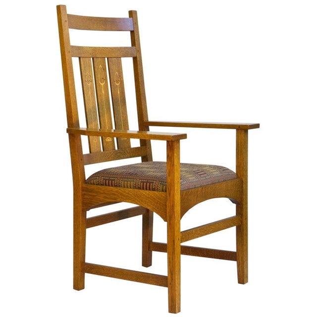 Stickley Harvey Ellis Oak Art & Crafts Chairs - Pair - Image 2 of 9