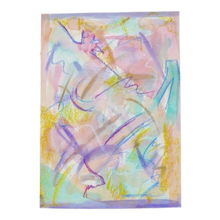"""""""Celebration"""" Contemporary Abstract Expressionist Pastel and Watercolor Painting by Martha Holden For Sale"""