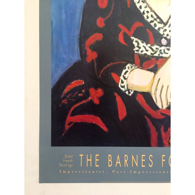 "Henri Matisse Vintage 1991 Lithograph Print Museum Poster "" Madame Matisse Madras Rouge "" 1907 For Sale In Kansas City - Image 6 of 13"